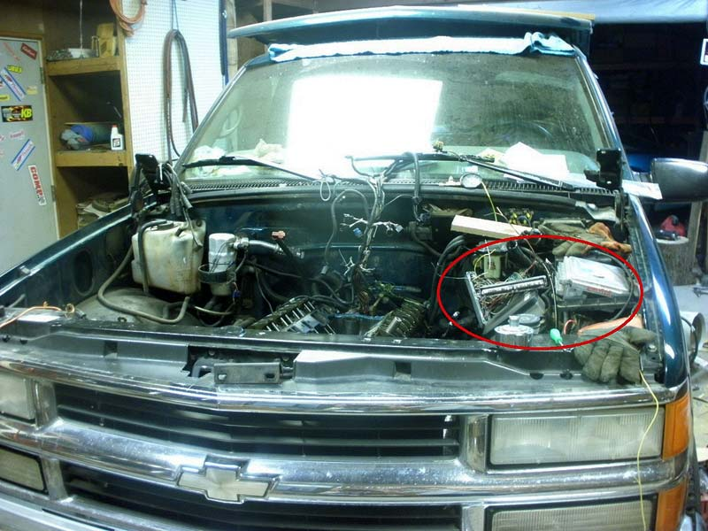 Lt1 Engine Swap GM Truck Central. GMt400 Pcm Location. Chevrolet. 93 Chevy K1500 Engine Diagram At Scoala.co