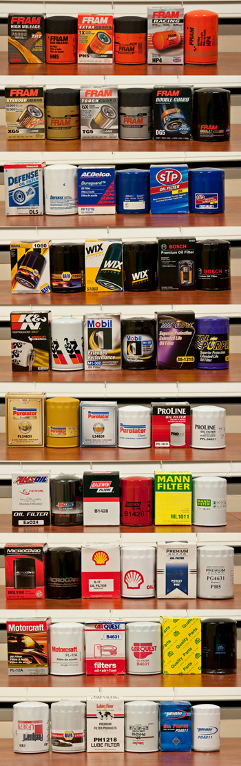 Oil filter collection